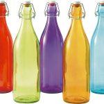 Bouteilles en verre colorées